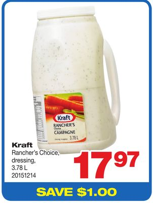 Kraft Rancher's Choice - Dressing - 3.78 L