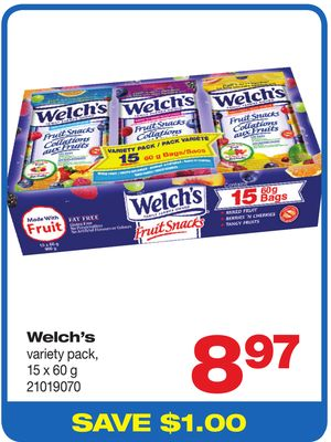 Welch's Variety Pack - 15 X 60 G
