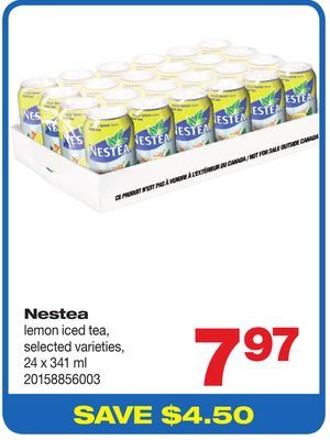 Nestea Lemon Iced Tea - 24 X 341 ml