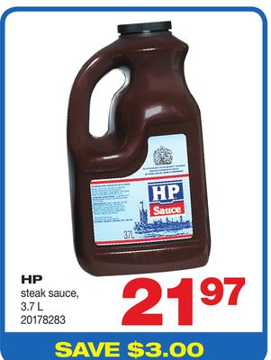 HP Steak Sauce - 3.7 L