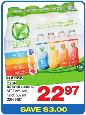 Karma Water Vit Flavoured - 12 Ct - 532 ml