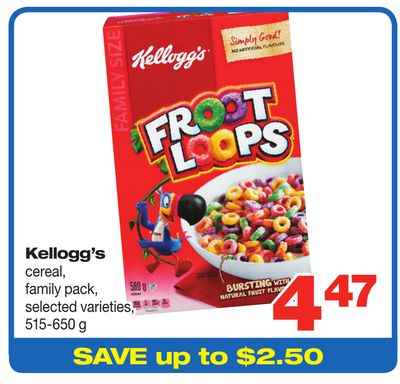 Kellogg's Cereal - 515-650 g