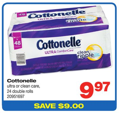 Cottonelle Ultra Or Clean Care - 24 Double Rolls