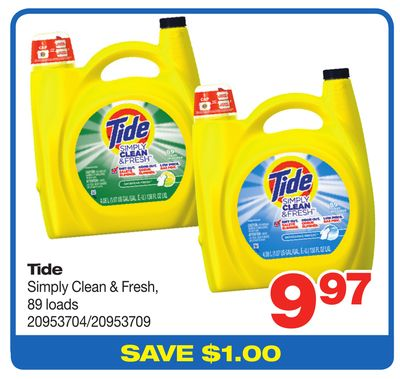 Tide Simply Clean & Fresh - 89 Loads