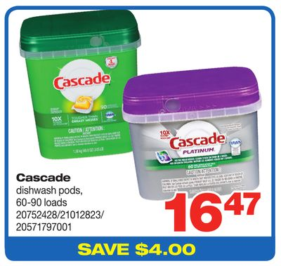 Cascade Dishwash PODS - 60-90 Loads
