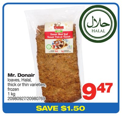 Mr. Donair Loaves - Halal - 1 Kg