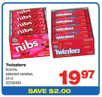 Twizzlers Licorice - 24 Ct