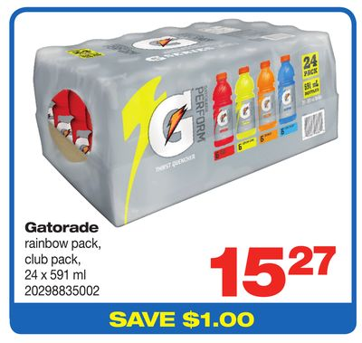 Gatorade Rainbow Pack - 24 X 591 ml