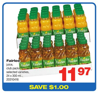 Fairlee Juice - 24 X 300 ml