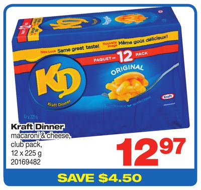 Kraft Dinner Macaroni & Cheese - Club Pack - 12 X 225 g