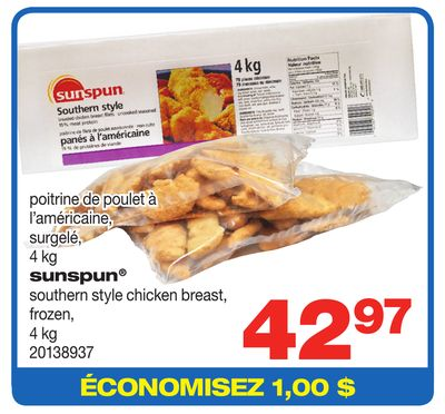 Sunspun Southern Style Chicken Breast - 4 Kg