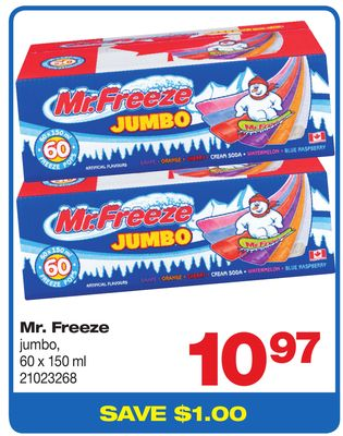 Mr. Freeze - 60 X 150 ml