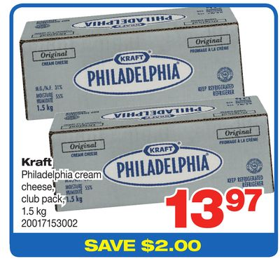 Kraft Philadelphia Cream Cheese - Club Pack