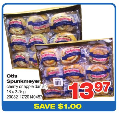 Otis Spunkmeyer Cherry Or Apple Danish