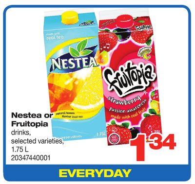 Nestea Or Fruitopia Drinks - 1.75 L