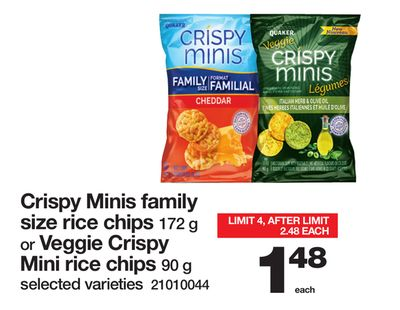 Crispy Minis Family Size Rice Chips On Sale Salewhale Ca