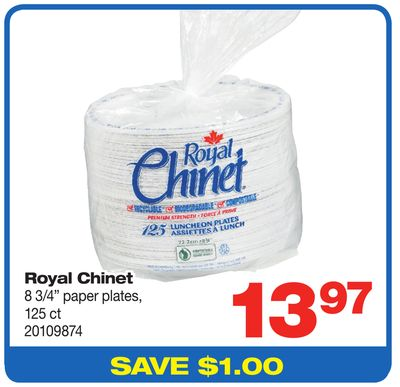 Royal Chinet 8 3/4'' Paper Plates - 125 Ct