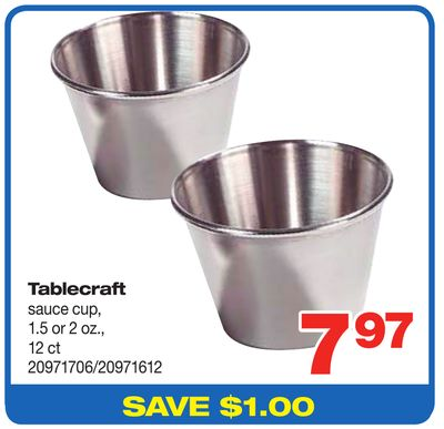 Tablecraft Sauce Cup - 1.5 Or 2 Oz. - 12 Ct