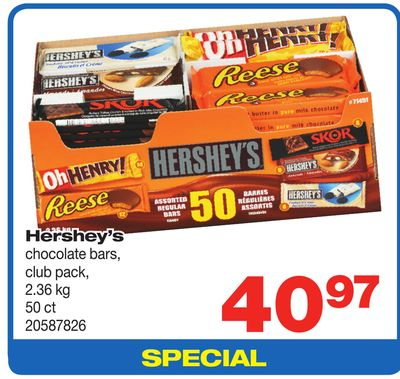 Hershey's Chocolate Bars - 2.36 Kg - 50 Ct