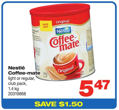 Nestlé Coffee-mate Light Or Regular - Club Pack - 1.4 Kg