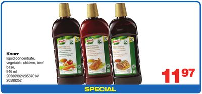 Knorr Liquid Concentrate - Vegetable - Chicken - Beef Base - 946 Ml