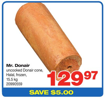 Mr. Donair Uncooked Donair Cone - 15.5 Kg