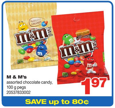 M & M's Assorted Chocolate Candy - 100 g Pegs