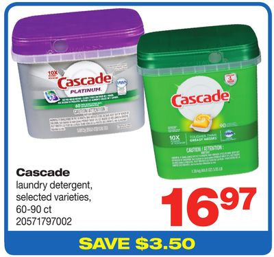 Cascade Laundry Detergent - 60-90 Ct
