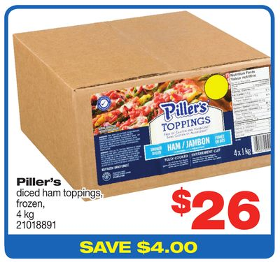 Piller's Diced Ham Toppings - 4 Kg