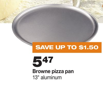 Browne Pizza Pan - 13'' Aluminum