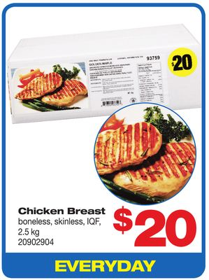 Chicken Breast Boneless - Skinless - Iqf - 2.5 Kg