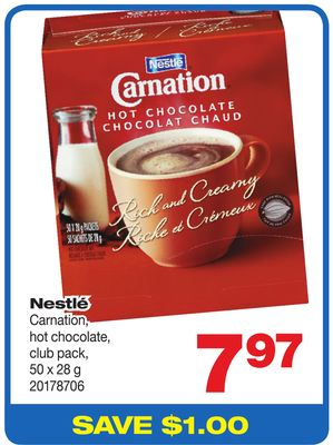 Nestlé Carnation - Hot Chocolate - Club Pack - 50 X 28 g