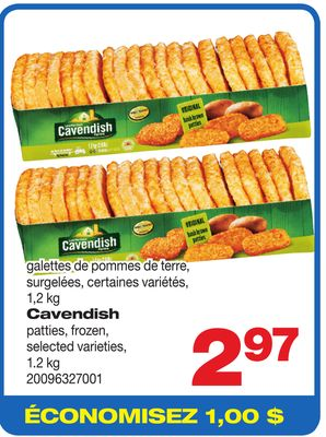Cavendish Patties - 1.2 Kg