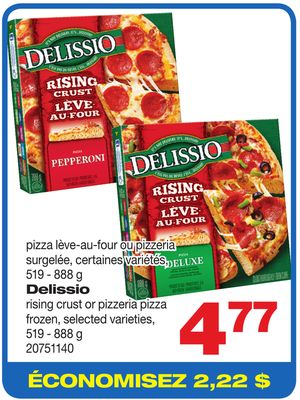 Delissio Rising Crust Or Pizzeria Pizza - 519 - 888 g