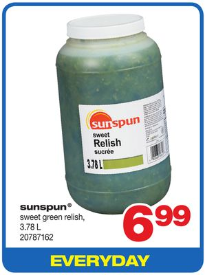 Sunspun Sweet Green Relish - 3.78 L
