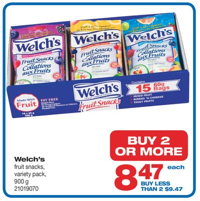Welch's Fruit Snacks - 900 g