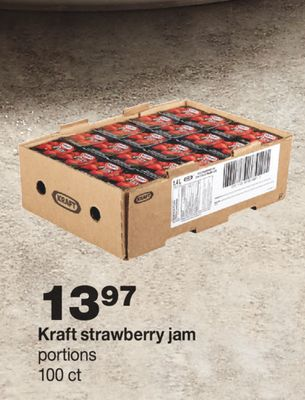 Kraft Strawberry Jam - 100 Ct