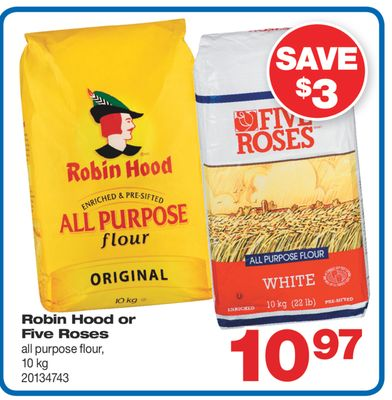 Robin Hood Or Five Roses All Purpose Flour - 10 Kg