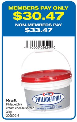 Kraft Philadelphia Cream Cheese Spread - 3 Kg