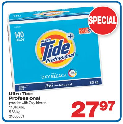 Ultra Tide Professional Powder With Oxy Bleach - 5.66 Kg
