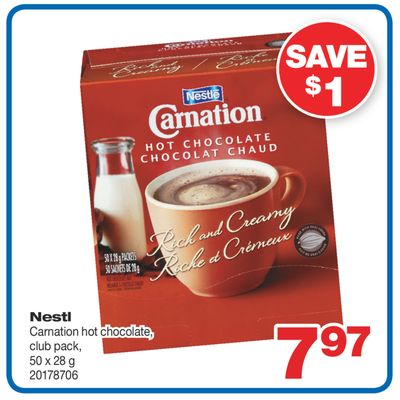Nestlé Carnation Hot Chocolate - 50 X 28 g