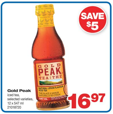 Gold Peak Iced Tea - 12 X 547 ml