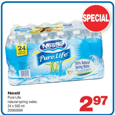 Nestlé Pure Life - Natural Spring Water - 24 X 500 ml