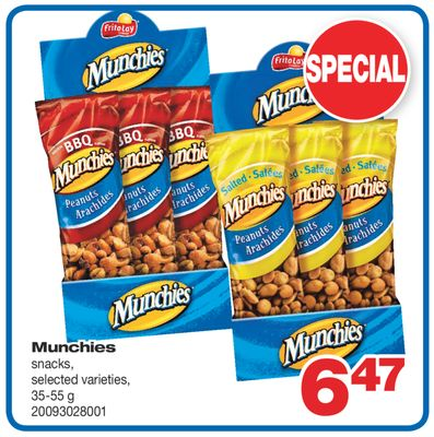 Munchies Snacks - 35-55 g