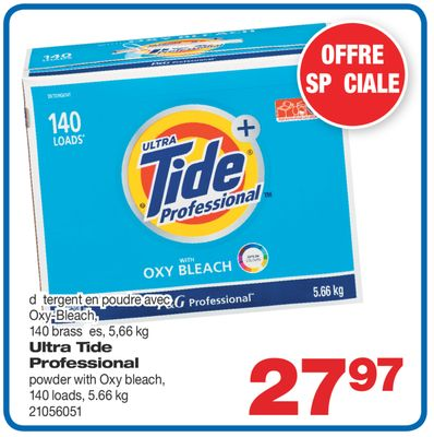 Ultra Tide Professional Powder With Oxy Bleach - 140 Loads - 5.66 Kg