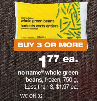 No Name Whole Green Beans - 750 g