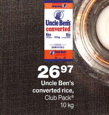 Uncle Ben's Converted Rice - Club Pack - 10 Kg
