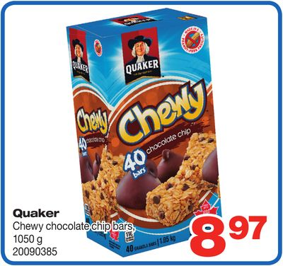 Quaker Chewy Chocolate Chip Bars - 1050 G