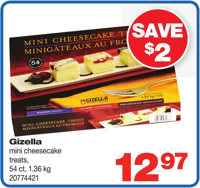 Gizella Mini Cheesecake Treats - 54 Ct - 1.36 Kg