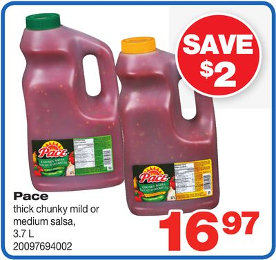 Pace Thick Chunky Mild Or Medium Salsa - 3.7 L